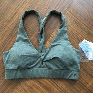 NWT Splendid green sports bra size small